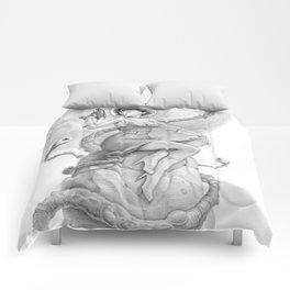 Astro Babe B&W Comforters