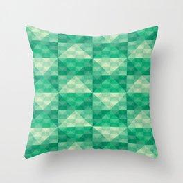 Green Checkered Throw Pillow