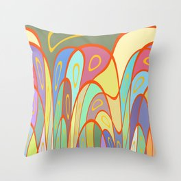 Distorted squares and circles Throw Pillow
