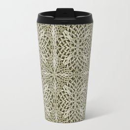Silver Intricate Arabesque Pattern Travel Mug