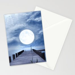Pier And Moon Stationery Cards