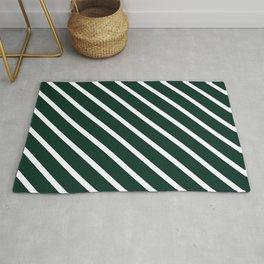 Deep Forest Diagonal Stripes Rug