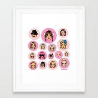 cartoons Framed Art Prints featuring CartooNEY - Britney Spears Cartoons by Eduardo Sanches Morelli