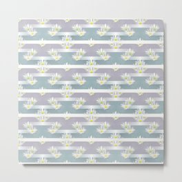 Mix of formal and modern with anemones and stripes 3 Metal Print