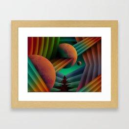 Planet Path Framed Art Print