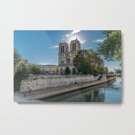 Notre Dame de Paris Cathedral  Metal Print