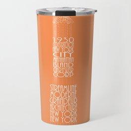 Chrysler Buidling Orange Travel Mug