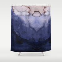 agate Shower Curtains featuring Agate by Tooth & Nail Designs