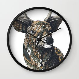 White-Tailed Deer (Color Version) Wall Clock