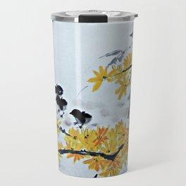 Chicks Under The Tree Travel Mug