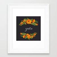 yolo Framed Art Prints featuring Yolo by eARTh