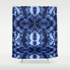 Topanga Tie-Dye Blue Shower Curtain