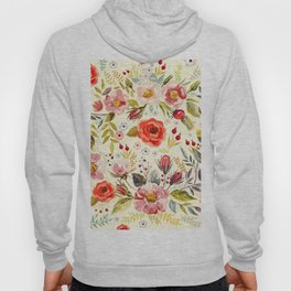 floral painting Hoody
