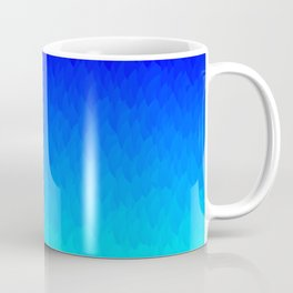 Electric Blue Ombre flames / Light Blue to Dark Blue Coffee Mug