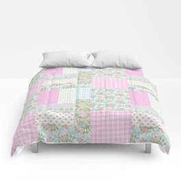 Dogrose Faux Patchwork Comforters