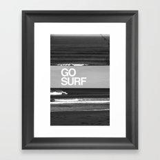 Go Surf Framed Art Print