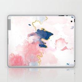 Kintsugi Pastel Marble #kintsugi #gold #japan #marble #pink #blue #home #decor #kirovair Laptop & iPad Skin