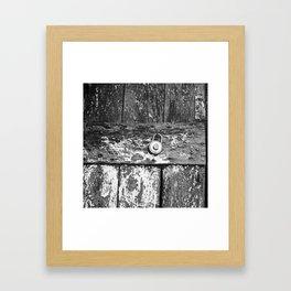 Behind the Door  Framed Art Print