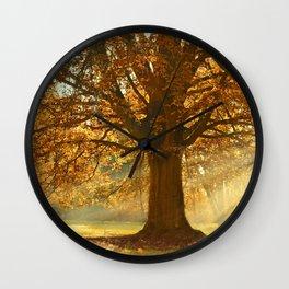 Tree - Deciduous Tree - Sunbeams - Sunrays - Linden - Autumn. Little sweet moments. Wall Clock