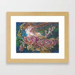 Mermaid's Realm Framed Art Print