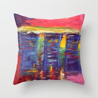 singapore Throw Pillows featuring Bayfront Singapore by Kasia Pawlak