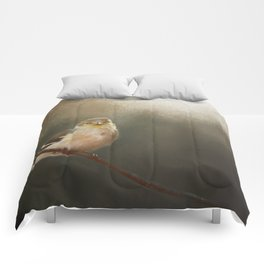 Perched Goldfinch Comforters