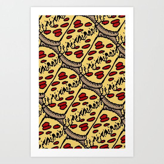 pattern pizza Art Print