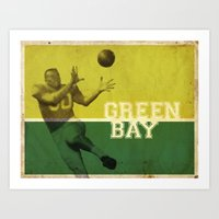 packers Art Prints featuring Green Bay, Wisconsin by Project Wisconsin