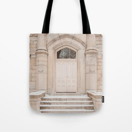 Water Tower Snow Day Tote Bag