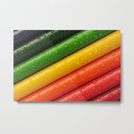 Rainbow Drops Metal Print