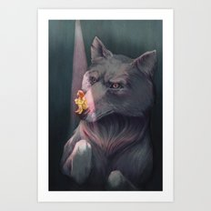Anxiety and the Wolf Art Print