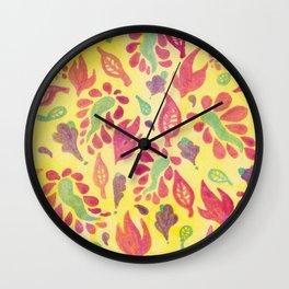 GrapeLeaves Wall Clock