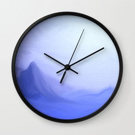 Icy Sunset - Fantasy Landscape Wall Clock