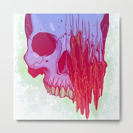 Distort candy color skull illustration Metal Print