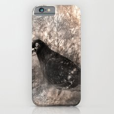 Black bird and the foggy path Slim Case iPhone 6s