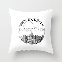 Los Angeles in a glass ball 2  ( https://society6.com/vickonskey/collection ) Throw Pillow