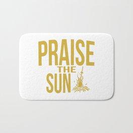 Praise the sun - version gold Bath Mat