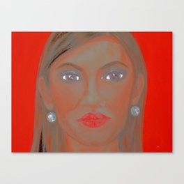 Hollywood Star. Painting. Red Canvas Print
