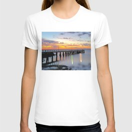 Wellington Point Jetty Sunrise T-shirt