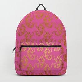 Pink Gold Mermaids Backpack