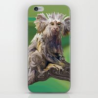 psychadelic iPhone & iPod Skins featuring Melanie's Marmoset by Distortion Art