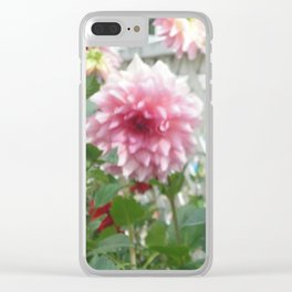Purple Dahlia Focus Clear iPhone Case