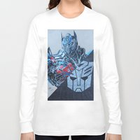 optimus prime Long Sleeve T-shirts featuring Optimus Prime  by JMH Art