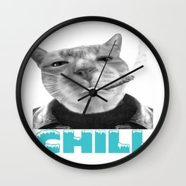 Chill Cat  Wall Clock