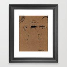 Sexism vs Racism Framed Art Print
