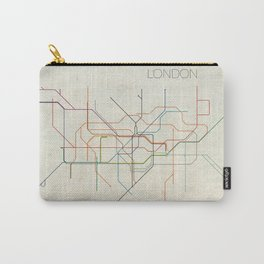 Minimal London Subway Map Carry-All Pouch