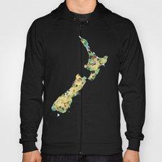 Map of New Zealand  Hoody