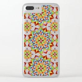 Manchester Mandala Clear iPhone Case