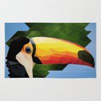 toucan Area & Throw Rugs featuring toucan by gazonula