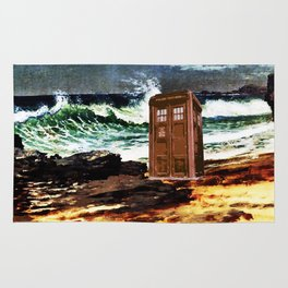 tardis beach choppy Rug
